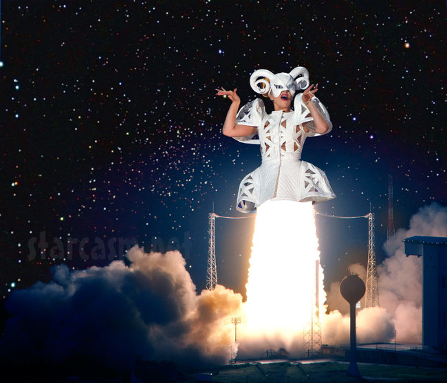 3.) Zero Gravity Concerts: Lady Gaga hopes to be the first singer in space. The alien princess will be performing a zero gravity concert in New Mexico's Spaceport America in 2015.