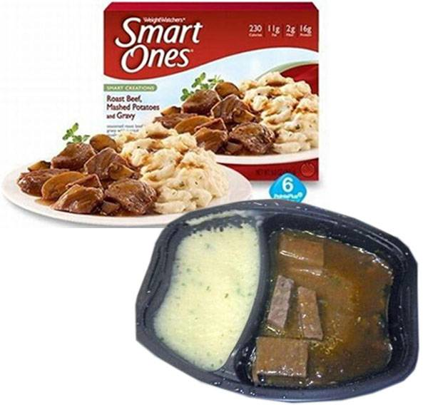 1.) Smart Ones Roast Beef, Mashed Potatoes, and Gravy