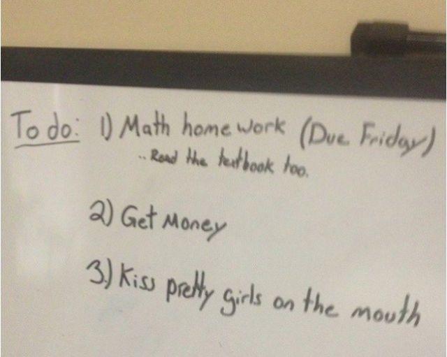8.) Priorities!