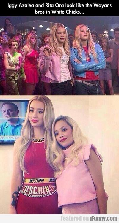 Iggy Azalea And Rita Ora Look Like The Wayans...