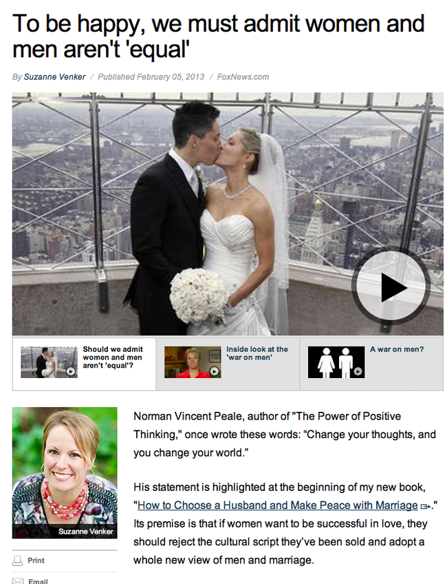 3.) The fail here is that's a picture of a same sex couple with an article about gender inequality. Oh Fox News.