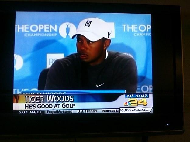 23.) He still plays golf?