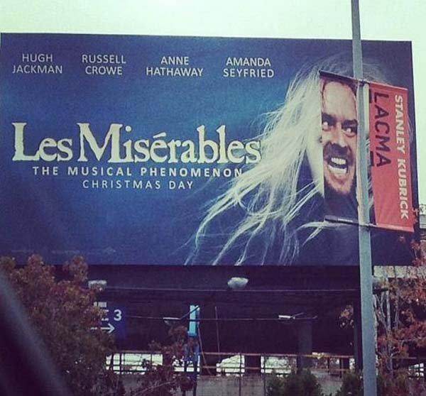 5.) I never knew Jack Nicholson was in Les Mis...