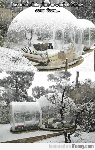 Just A Nice Little Place To Watch The Snow...