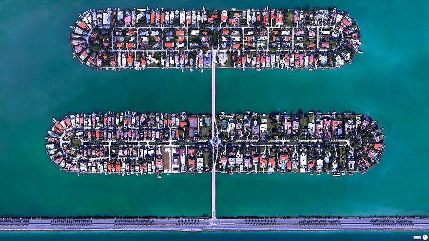 Palm Island, Hibiscus Island, Miami Beach, Florida, USA