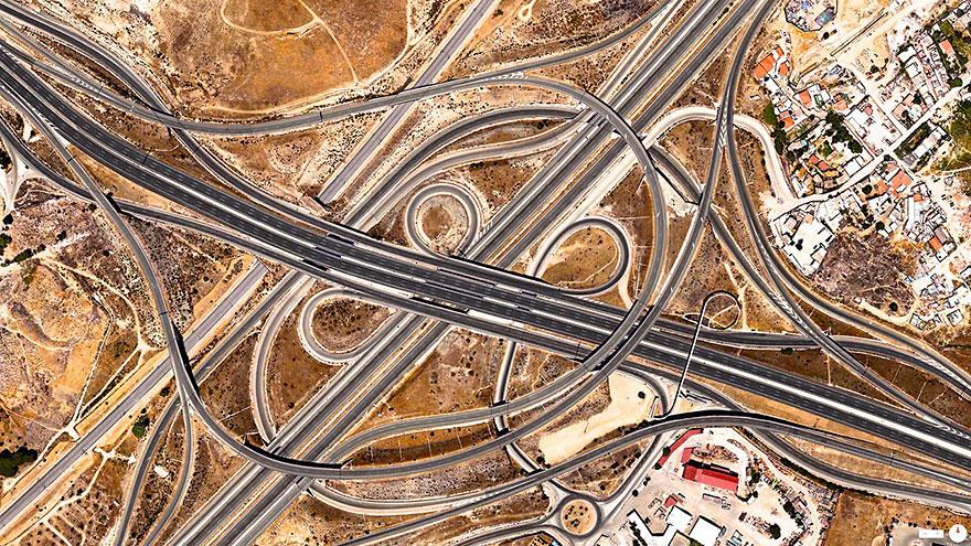 Highway Junction, Madrid, Spain