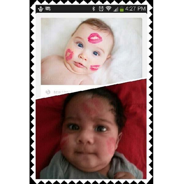 11.) Both babies seem bewildered.