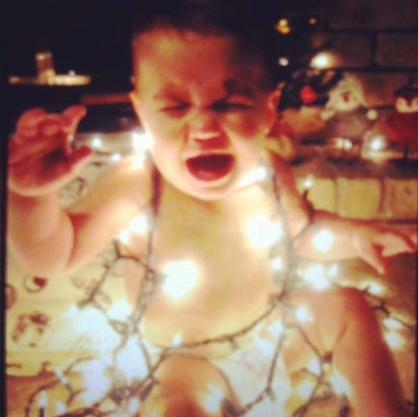 13.) Quit putting Christmas lights on your baby.