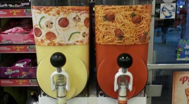 13.) Pizza And Spaghetti Slushees.