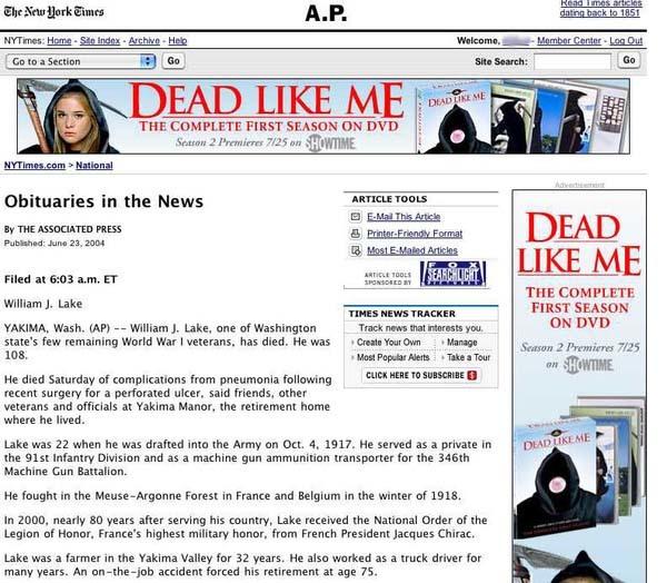 14.) Speaking of death...