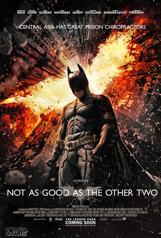 "8.) ""The Dark Knight Rises."""