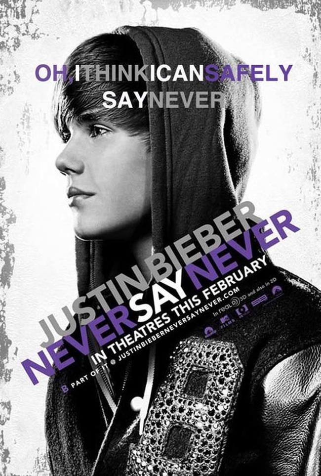"13.) ""Justin Bieber: Never Say Never."""