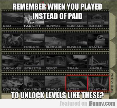 Remember When You Played Instead Of Paid...