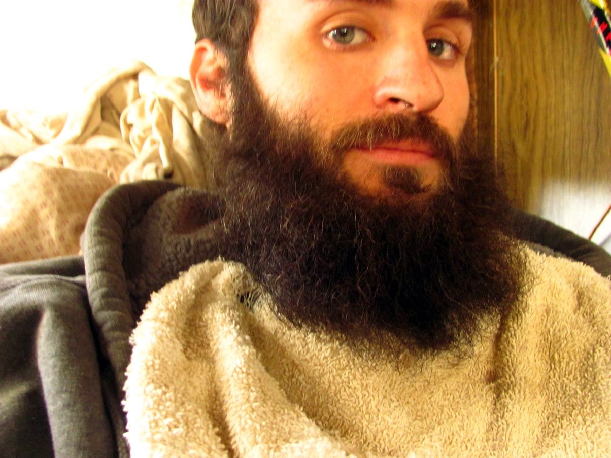 So, he kept a little bed for him close: his beard.
