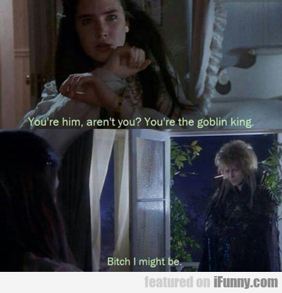 You're Him, Aren't You? You're The Goblin King?