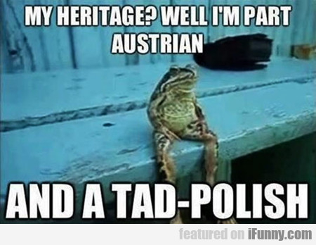 My Heritage? Well, I'm Part Austrian And A Tad...