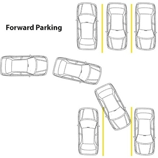 12. If you find a right parking space, back into it. You have a sharper turning radius going backwards.