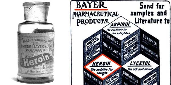 11.) Heroin was used to treat coughs: Bayer used to produce commercialized heroin in the 1890s as a cough, cold and pain remedy. It was marketed towards kids until 1912.