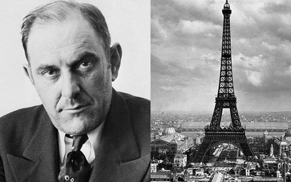 """13.) A con man sold the Eiffel Tower: """"Count"""" Victor Lustig, a famous con man, convinced six scrap metal dealers to bid on the Eiffel Tower. The winning dealer paid $70,000 for the monument and gave it to Lustig… who can off."""