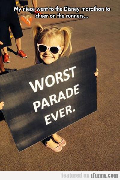 My Niece Went To The Disney Marathon To Cheer...