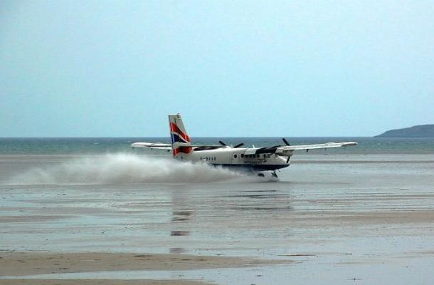 25.) Barra International Airport, Scotland