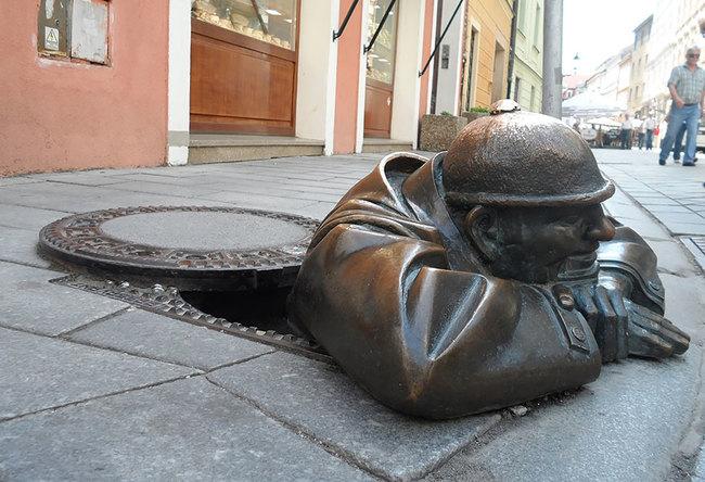 8.) Man At Work (Bratislava, Slovakia)