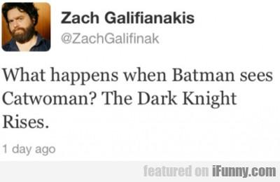 What Happens When Batman Sees Catwoman?