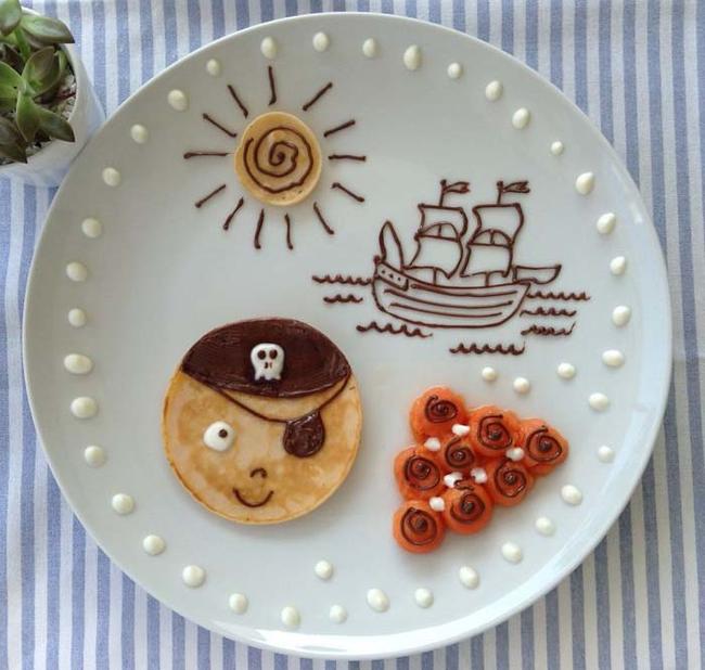 Yarr, a pancake pirate.