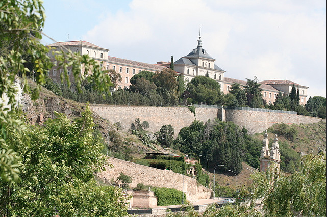 Toledo technically only has one wall, and that's because it's surrounded on three sides by the Tagus River, so it only needed protection on its landward side. Like many of the other cities here, Toledo has a rich past spanning Spain's Roman, Visigothic and Moorish periods.