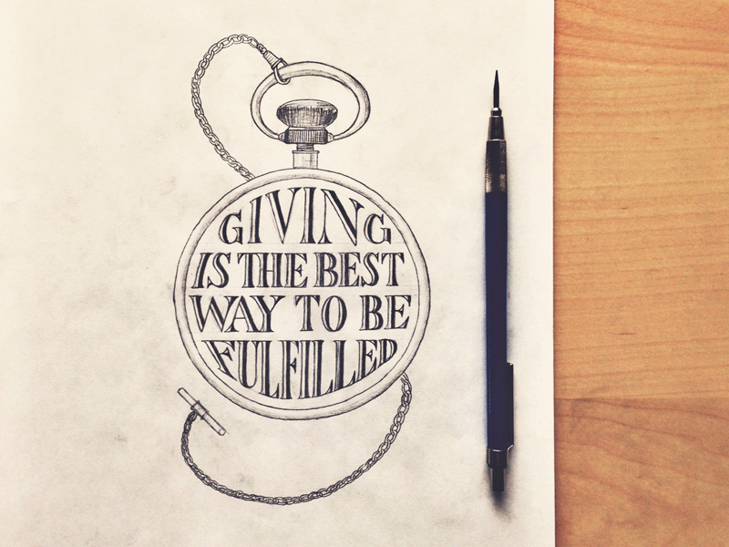 6) Giving Is The Best Way To Be Fulfilled.