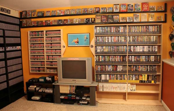 In one room, years of Nintendo video game history is preserved.
