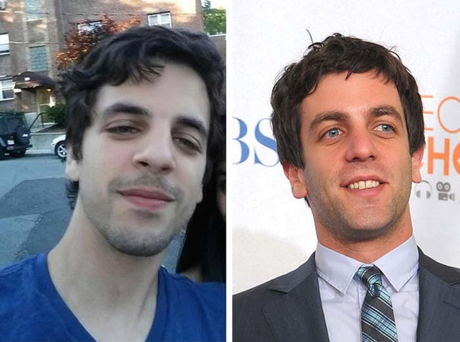 8.) Looks just like: BJ Novak.