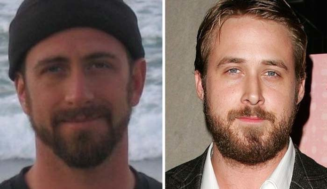 7.) Looks just like: Ryan Gosling.