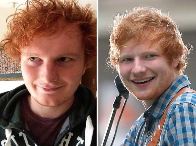 10.) Looks just like: Ed Sheeran.