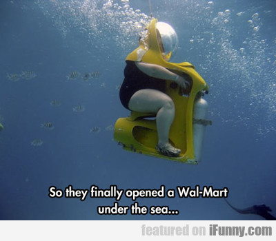 So They Finally Opened A Wal-mart Under The Sea...