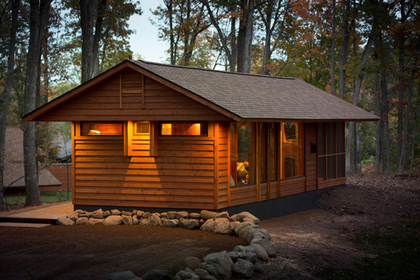 "This ""cabin"" is only 400 square feet, which doesn't sound like much."