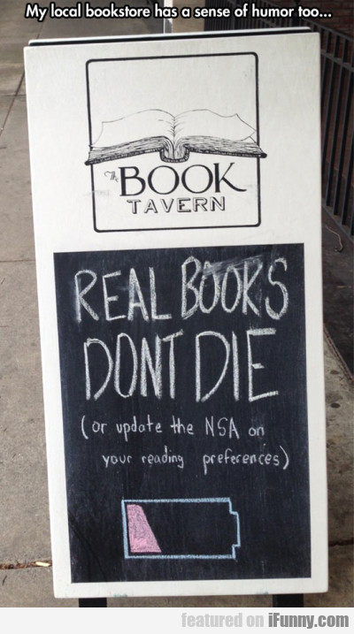 My Local Bookstore Has A Sense Of Humour Too...