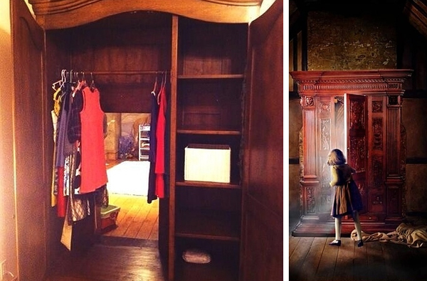 1.) Put a wardrobe in front of a playroom door to make a fun path to Narnia.