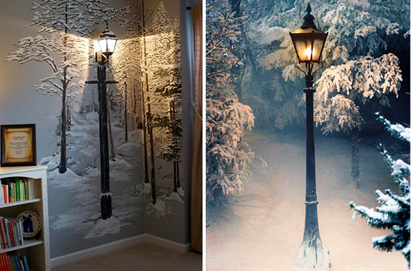 3.) Create a mystical lamp post in the forest, without the forest.