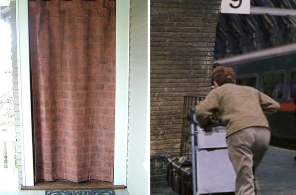 6.) Make any bedroom door into Platform 9 3/4.