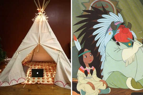 11.) Build a teepee even Tiger Lily wold love.