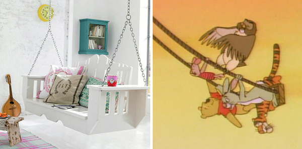 15.) Build an indoor swing for friends.