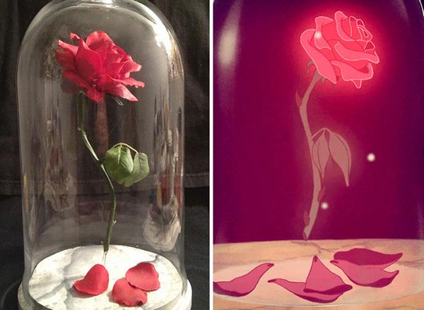 17.) Recreate Beast's magical floating rose.