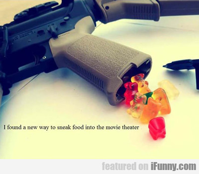 I Found A New Way To Sneak Food...