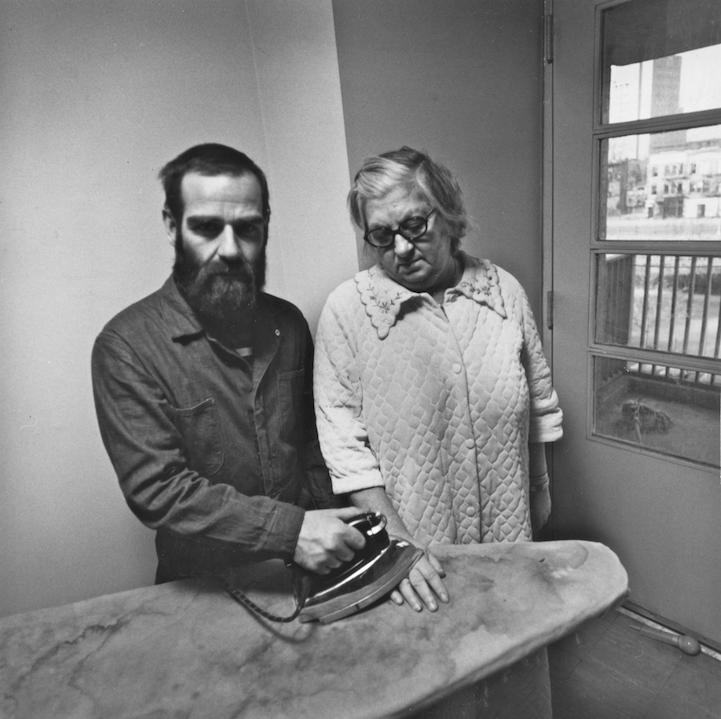 5.) Bearded Man Ironing Grandma's Hand
