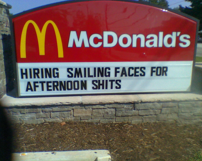 1.) Mickey D's will do that to you...