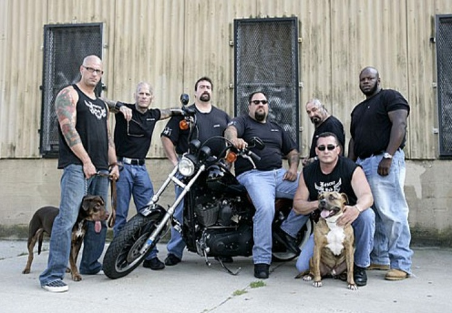 10.) Rescue Ink is a biker gang that works with local SPCAs and The Humane Society to break up dog fighting rings and put an end to other forms of animal cruelty.