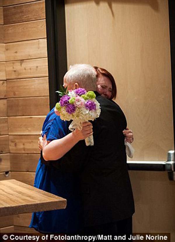 Neither of daughters were engaged to be married, but he surprised them with the special ceremony anyway.