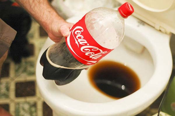 2.) Use Coke to clean your toilet, no matter how disgusting that seems.