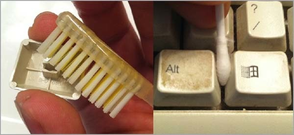 11.) Toothbrushes and Q-tips are your dirty keyboard's best friend.